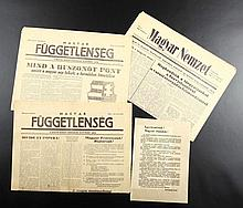 Newspapers and leaflets of 1956