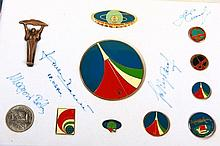Badges in Theme of Space Travel in Gift Box