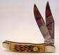 BOKER HYBRID 2 BLADE COPPERHEAD POCKET KNIFE W/ JIGGED BONE HANDLE