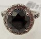 14K WHITE GOLD BLACK & WHITE DIAMOND RING - SZ. 7.75