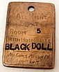 LONG BRANCH SALOON DODGE CITY 'BLACK DOLL' BROTHEL TOKEN COLLECTIBLE