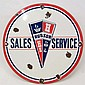 AUTOMOBILE HUDSON SALES SERVICE PORCELAIN ADVERTISING SIGN