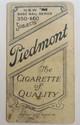 C. 1910 T206 TANNEHILL CHICAGO BASEBALL CARD - PIEDMONT BACK