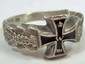 STERLING SILVER GERMAN NAZI ENAMELED RING