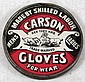RARE EARLY ADVERTISING MIRROR ADVERTISING CARSON GLOVES