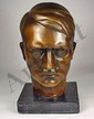 WW2 GERMAN NAZI BRONZE BUST OF ADOLF HITLER - Appr