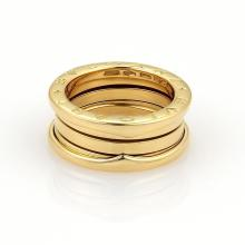 Bulgari Bvlgari B Zero-1 18k Yellow Gold 8mm Wide Band Ring Size EU 51-US 5.5