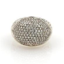 John Hardy 1ct Diamonds Silver & 18k Yellow Gold Dome Ring