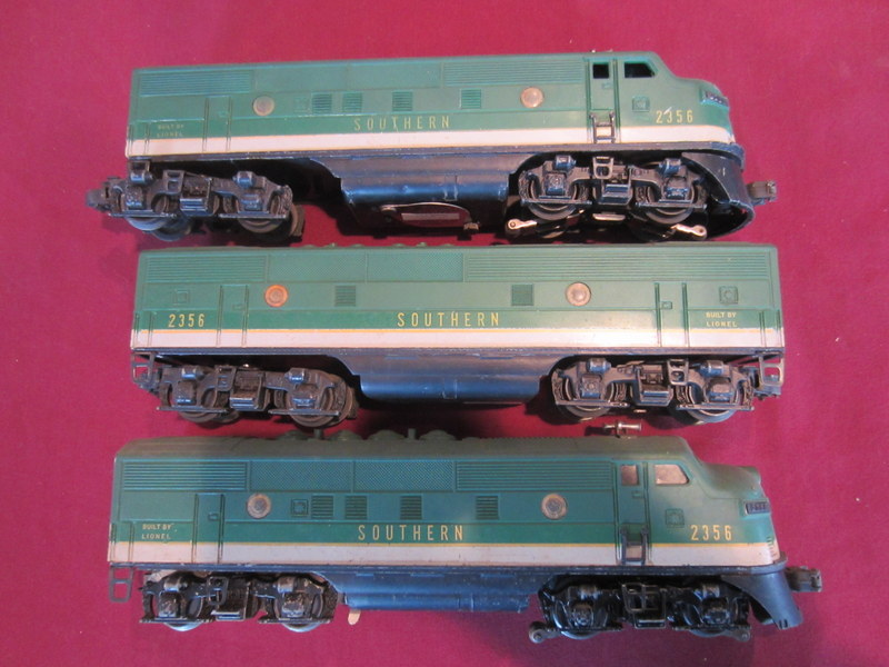 Lot of Lionel Three Car Engine Set # 2356 (Southern Engine Set)