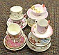 10 Porcelain Teacup and Saucer Sets