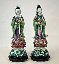 Pr Chinese Famille Rose Figure of Guanyin