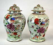 Pair of Chinese Porcelain Ginger Jars