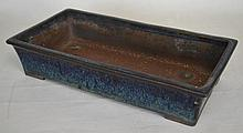 19th c. Chinese Yixing Rectangular Ceramic Planter