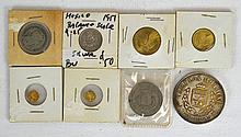 8 Mexican and Spanish Coins