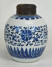 18th c. Chinese Blue and White Porcelain Jar