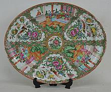 19th c. Chinese Famille Medallion Ceramic Platter