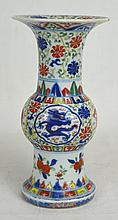 19th C Chinese Ceramic Beaker Vase