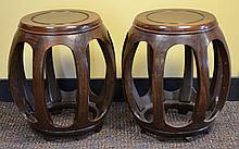 Pair of Chinese Barrel Stool