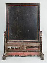 19th c. Wooden Japanese Table Screen