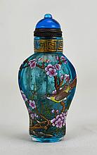 19th c. Chinese Blue Peking Glass Snuff Bottle