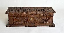 18th C Fine Carved Chinese Wood Box