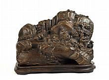 Large Chinese Carved Chengxian Wood Display