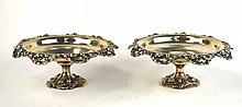 Tiffany & Co. Pr Sterling Silver Footed Compotes