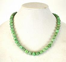Chinese Natural Jadeite Beads Necklace