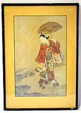Japanese Print with Frame