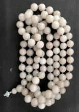 108 White Jade Beads Necklace