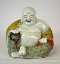 Chinese Porcelain Large Happy Buddha Figure