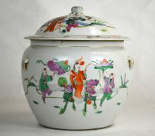 Chinese Porcelain Lidded Ginger Jar