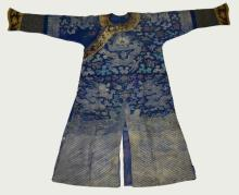 Chinese Embroidered Silk Robe with Dragon