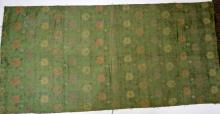 Chinese Embroidered Green Silk (Kesi) Panel