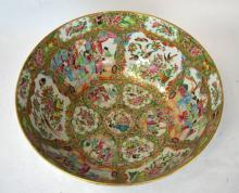 Large Chinese Famille Medallion Porcelain Bowl