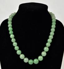 Mason Kay. Natural Green Jadeite Beaded Necklace
