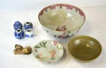 Group of Seven Chinese Porcelain Objects