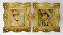 Strevens Pair of Framed Prints of Oil on Board