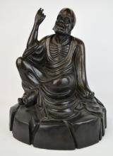Chinese Carved Hardwood Luohan Figure