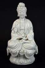 Chinese Blanc-De-Chine Porcelain Guan Yin Figure