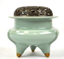 Chinese Porcelain Celadon Censor or Incense Burner