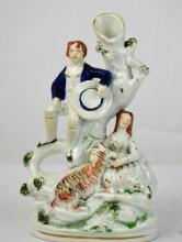 Staffordshire Vase w. Figure