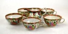 Chinese Porcelain Tea Cups and Creamer