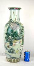 Tall Chinese Porcelain Floor Vase