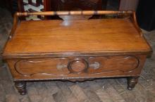 Antique Oak or Walnut Cedar Blanket Chest c. 1920s