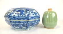 Chinese Porcelain Vase and Large Box