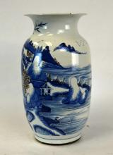 Chinese Porcelain Blue & White Painted Vase