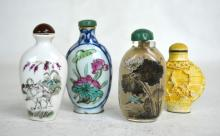 Four Assorted Chinese Snuff Bottles 20th C.