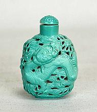 19th C. Chinese Carved Porcelain Snuff Bottle