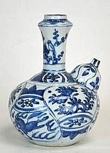 Chinese Blue & White Bottle-Shaped Urn, Ming
